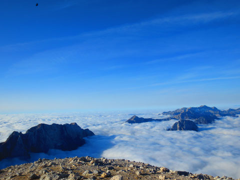 Julische Alpen, Mangart Gipfel, Klettersteig