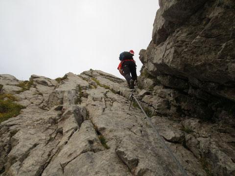 Nach dem Einstieg geht´s gleich zügig hinauf