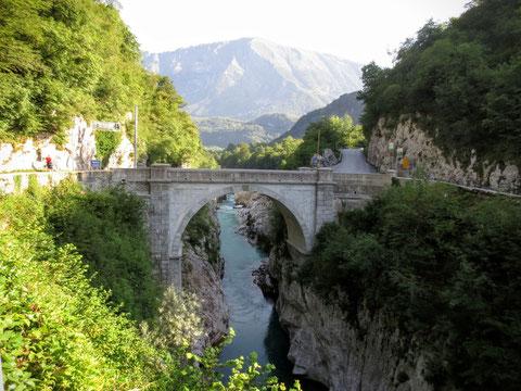 Die Napoleonsbrücke in Kobarid