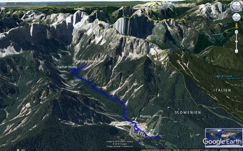 Planica, wandern, Tamar Hütte, Julische Alpen