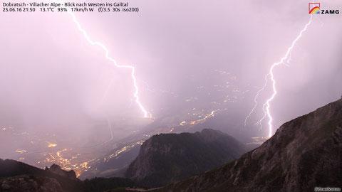 Dobratsch, Villacher Alpe, Gewitter