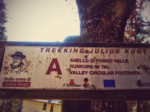 Kugy-Wanderweg in Tarvis