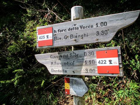Val Alba, Moggio, Wandern, Karnische Alpen, Rifugio Vualt