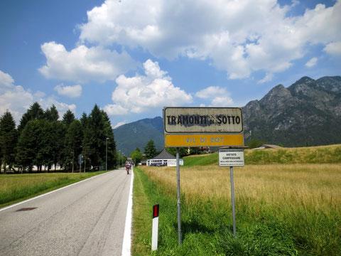 Tramonti, Val Tramontina, Friaul, Radtour