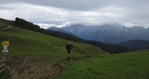 Achomitzer Alm - Blick auf die Julischen Alpen