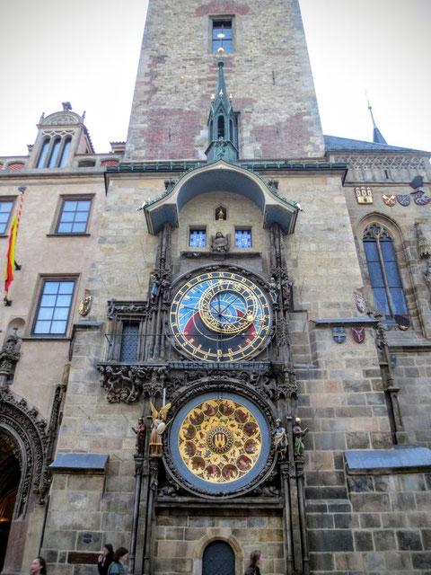 Prag, Rathaus, Uhr