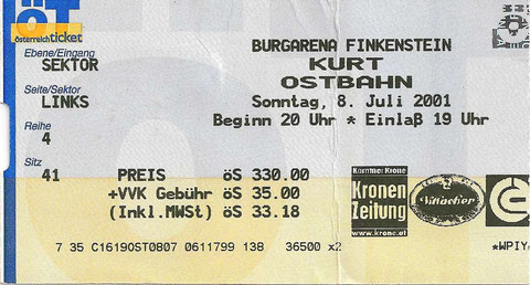 Kurt Ostbahn Burgarena Finkenstein 8. Juli 2001