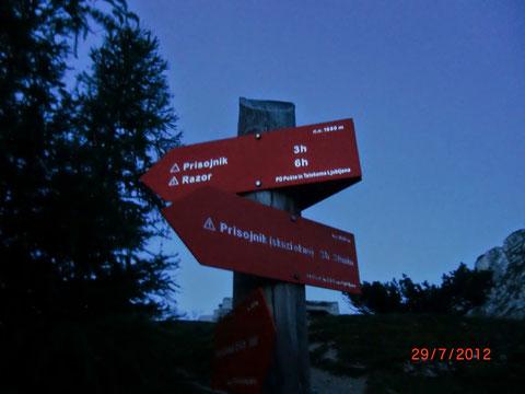 Prisank, Prisojnik, Klettersteig, Julische Alpen