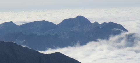 ulische Alpen, Mangart, Triglav, Montasch, Luschari, Dobratsch,Kugy
