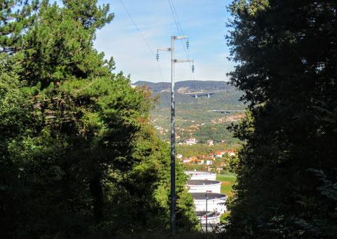 Triest, Öllager, Pipeline, Alpe Adria Trail