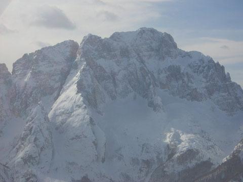 Die Montasch-Nordwand in voller Wucht