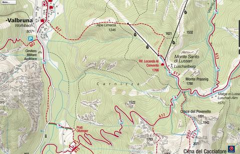 Luschariberg, Monte Lussari, Limerza