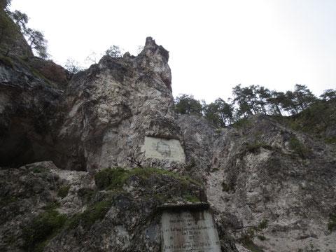 Gedenktafel an die Napoleonkriege um 1813 im Bartolograben