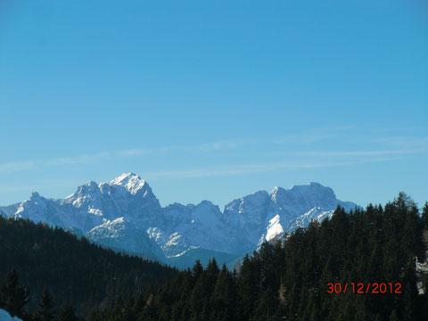 Blick hinüber nach Italien zu Wischberg und Montasch