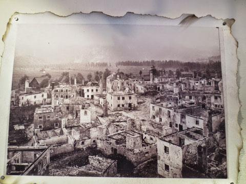 Das im 1. Weltkrieg völlig zerstörte Wolfsbach (Valbruna)