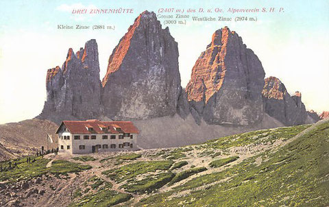 Dreizinnenhütte, Sepp Innerkofler, Dolomiten