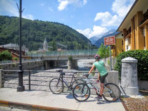 Ciclovia Alpe Adria Radweg, Kanaltal, Tarvis, Julische Alpen, Pontafel