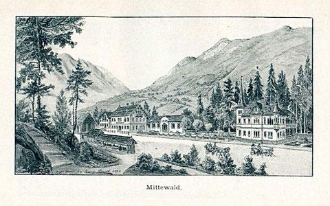 Der Höhen- u. Luftcurort Mittewald bei Villach im Jahre 1894