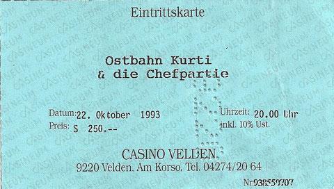 Ostbahn Kurti & die Chefpartie Casino Velden 22. Oktober 1993