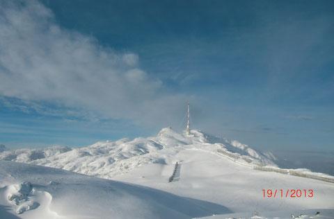 Traumhafte Winterlandschaft am Hochplateau der Villacher Alpe