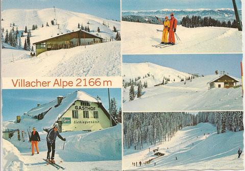 Kartentext: Herrliches Schigebiet mit 6,5 km langer Schiabfahrt (V 73), moderne Liftanlagen