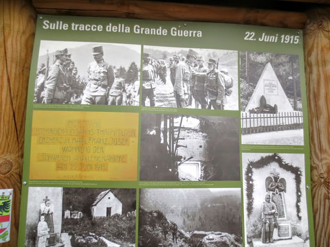 Kanaltal,Julische Alpen, Kaiser Karl, 1. Weltkrieg