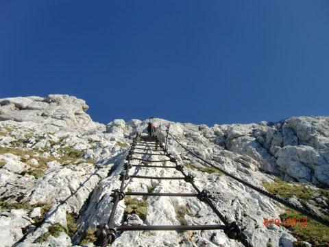 Montasch 2.754m  - über die legendäre Leiter Scala Pipan