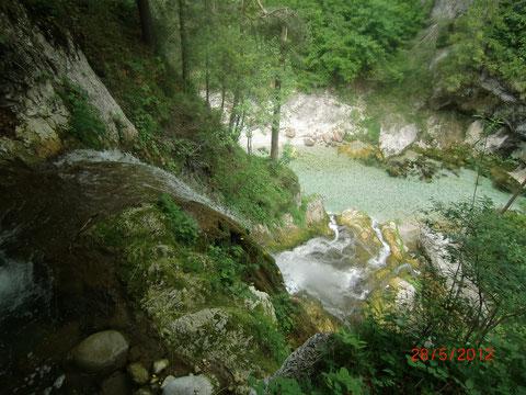 Der einst berühmte Wasserfall von oben