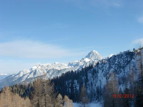 Mangart 2.677m - einer der höchsten und bekanntesten Gipfel der Julischen Alpen