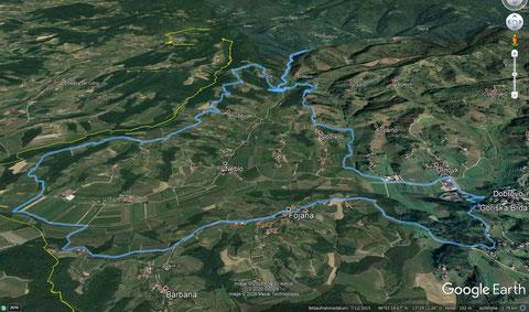 """Wanderweg """"Črnica"""" und Abstecher zur Krčnik-Schlucht"""