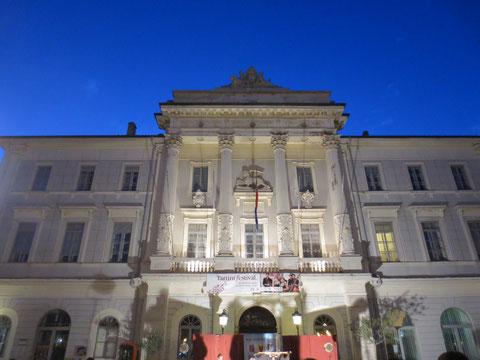 Das Rathaus von Piran mit dem venezianischen Markuslöwen