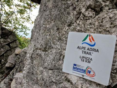 Strada Napoleonica, Vicentina, Triest, Meer, Alpe Adria Trail
