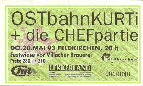 Ostbahn Kurti Feldkirchen 20. Mai 1993