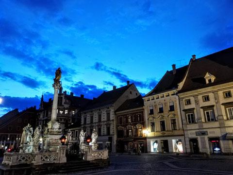 Der Rathausplatz von Maribor