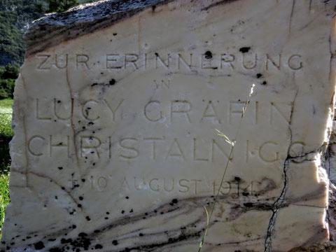 Hier endete vor fast genau 100 Jahren das Leben einer außergewöhnlichen Frau: Lucy Gräfin von Christalnigg