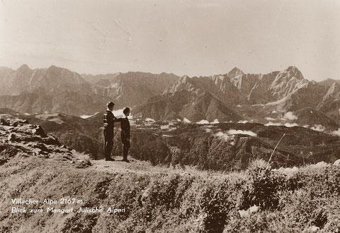 So mag es wohl ausgesehen haben, als die beiden Buben Julius und Paul Kugy im Jahre 1870 das erste mal am Dobratsch standen und die Julischen Alpen bewunderten
