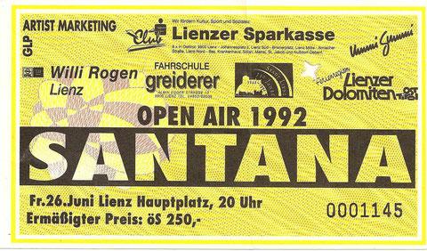 Santana Lienz Hauptplatz 26. Juni 1992