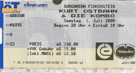 Kurt Ostbahn & Die Kombo Finkenstein Burgarena 1. Juli 2000