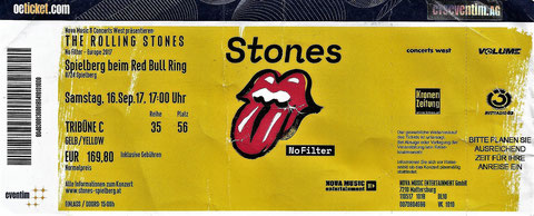 Rolling Stones Ticket No Filter Tour Spielberg 2017