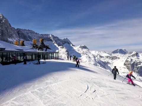 Sella Nevea, Skitour, Prevala, Rifugio Gilberti, Julische Alpen