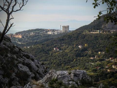 Adria Trail, Rosandratal, Cippo Comici, Bahnstrecke, Triest, Botazzo