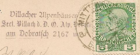 Hüttenstempel aus dem Jahr 1911