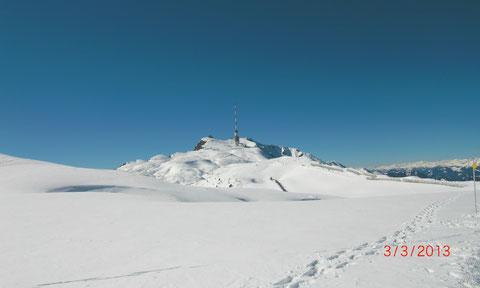 Villacher Alpe, Dobratsch, Skitour, Schneeschuh, Heiligengeist, Wanderwege, Gipfelhaus