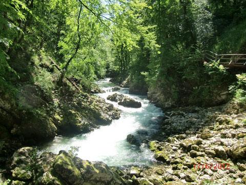 Julische Alpen, Wasserfälle