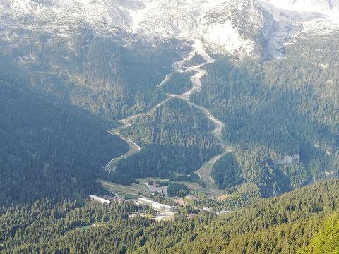 Das italienische Wintersportzentrum Sella Nevea
