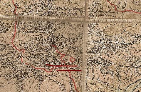 Findenegghütte und Alte Wischberghütte -  Wanderkarte Freytag & Bernd um 1910