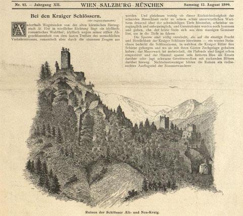 Seit 120 Jahren nahezu unverändert präsentieren sich die Ruinen Kraiger Schlösser