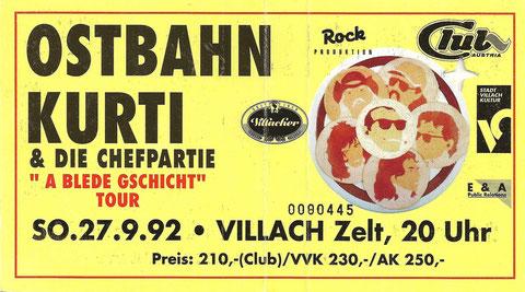 Ostbahn Kurti Villach 27. September 1992