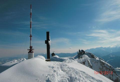 Skitour, Dobratsch, Villacher Alpe, Gipfel, Schneeschuh, Winter