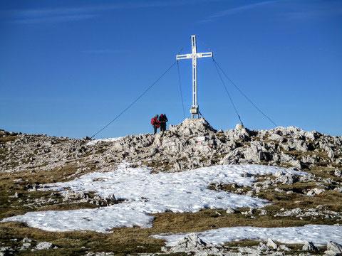 Karnische Alpen, Trogkofel, Gipfelkreuz